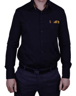 Nkosana Lounge Shirt – Black/Yellow