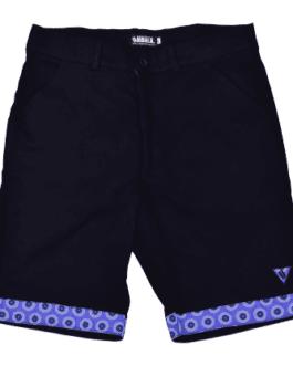 Ubuntu Formal Shorts – Black/Blue ShweShwe