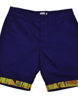 Ubuntu Formal Shorts -Navy/Kente