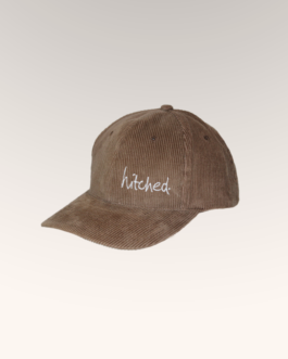 hitched brown corduroy cap